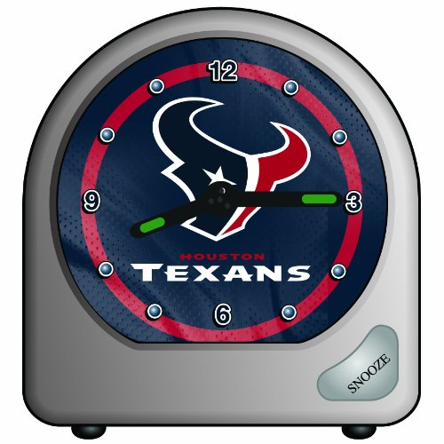 NFL Houston Texans Desk Clock, 2.75 x 2.75