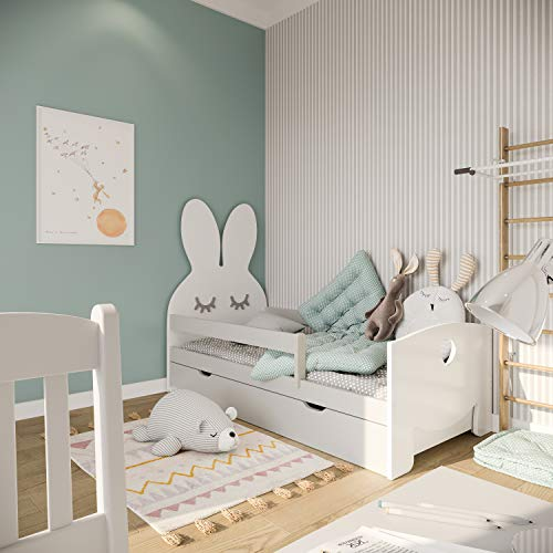 (70×160 cm, grijs) NeedSleep® kinderbed peuterbed bed met lades | 70×140 70×160 | bed met matras | jongen meisje…