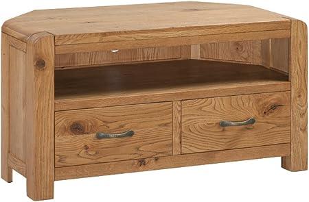 Caprice – Mueble de esquina para televisor de roble macizo armario de esquina para televisor de plasma