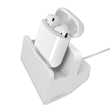 Soporte de carga para Airpods inalámbrico Bluetooth auriculares y iphone Compatible iPhone7/7plus,6S/6Splus,6/6plus,5/5S/ SE,color blanco: Amazon.es: ...