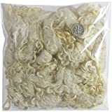 Living Dreams Real Natural Mohair Wool Fiber Locks for Knitting, Felting, Spinning, Paper Craft, Doll Hair and Embellishments. 1 Ounce, Natural White