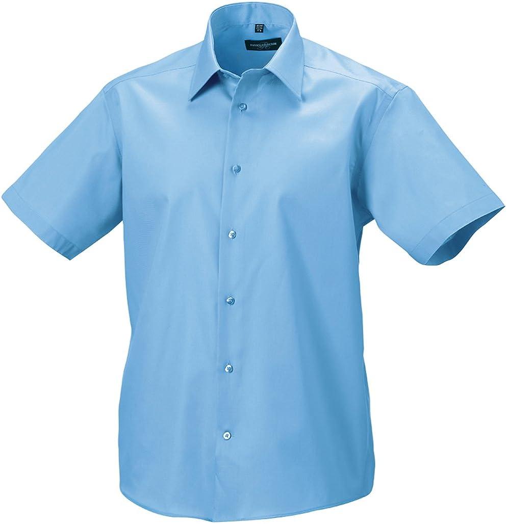 Camisa de Manga Corta Corte Moderno sin Planchar para Hombre – 120 g/m²: Amazon.es: Ropa y accesorios