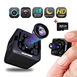 Spy Hidden Camera Nanny Cam - 32GB SD Card Included, Mini Wireless Cop Cam Action Cameras for Indoor or Outdoor,Home Office or Car, Video Recorder, Night Vision and Motion Detection, Body Camera
