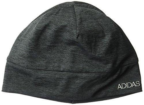 adidas Womens Heather Tech Beanie, Black/Deepest Space/Matte Silver, One (Adidas Spandex Cap)