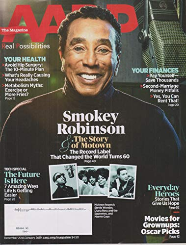 AARP December 2018/January 2019 Smoke Robinson & The for sale  Delivered anywhere in USA