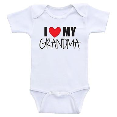 d1b9e5e0e Amazon.com: Cute Baby Onesie I Love My Grandma, Nana or Mimi Baby Clothes:  Clothing