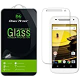 Moto E 2nd Gen Glass Screen Protector, Dmax Armor® Motorola Moto E 4G LTE (2nd Generation) Screen protector [Tempered Glass] Ballistics Glass, 99% Touch-screen Accurate, Anti-Scratch, Anti-Fingerprint, Bubble Free, Round Edge [0.3mm] Ultra-clear, Maximum Screen Protection from Bumps, Drops, Scrapes, and Marks [1 Pack]- Retail Packaging