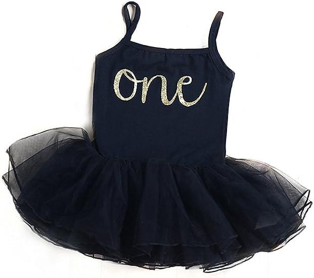 Amazon.com: Vestido de primer cumpleaños para niña, color ...