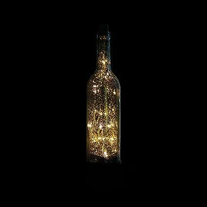 XX Led Estrella Lámpara de la Botella de Vino Dormitorio Estrella de Noche Bar de la