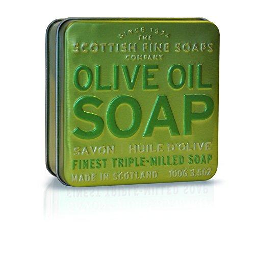Scottish Fine Soaps Olive Oil Soap In Tin 100 g