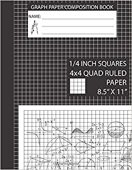 graph paper composition book 4x4 graph paper notebook 8 5 x 11 4