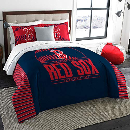(The Northwest Company Boston Red Sox MLB King Comforter Set (Grand Slam Series) (102 x 86))