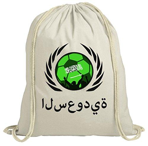 ShirtStreet Wappen Soccer Fussball WM Fanfest Gruppen Fan natur Turnbeutel Gym Bag Fußball Saudi-Arabien Natur nqH0H1X