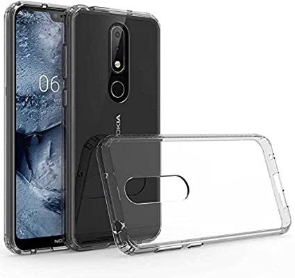 new concept a6aea b3642 Hifad Case Transparent Back Cover for Nokia 3.1 Plus: Amazon.in ...
