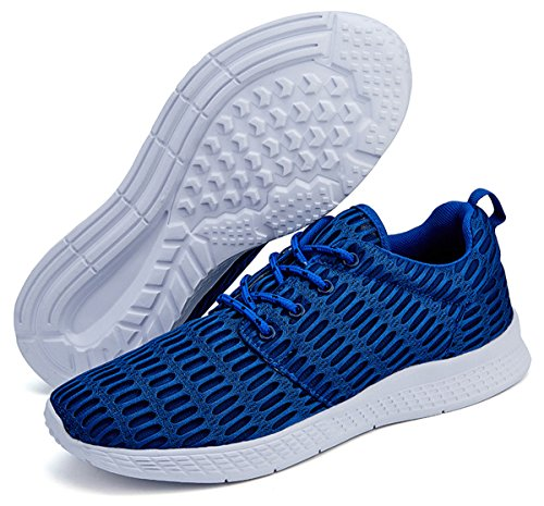 Mens Casual Mesh Running Athletic Breathable Jeneet Sneakers for Shoes Blue Womens 8Pw5dPXqa