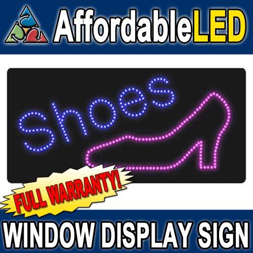 (Affordable LED L11000 12 H x 24 L in. Shoes LED Sign)