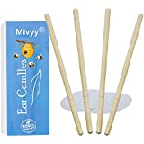 2018 New Beeswax Candling, 100 Beeswax Candles for Beauty Salon, Candling Cones 4 Candle Pack With Protective Disk 2 Piece