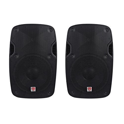 (2) Rockville SPGN104 10'' Passive 4 Ohm Lightweight DJ PA ABS Cabinet Speakers Totaling 1600 Watt With 2'' Aluminum Voice Coil For Amazing Sound Clarity by Rockville