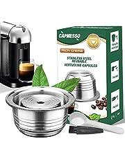 CAPMESSO Coffee Capsule, Stainless Steel Reusable Coffee Pod for Espresso Nespresso Refillable Vertuo Capsule Pod Vertuoline GCA1 and Delonghi ENV135