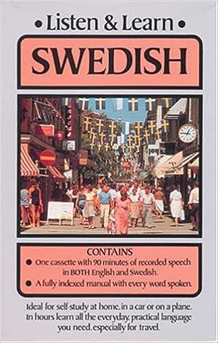 Amazon com: Listen & Learn Swedish (Listen and Learn Series