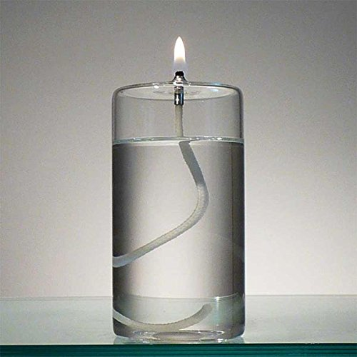Liquid Candle - 5-Inch Refillable Glass Pillar Candle - Liquid Candles are the Latest Trend in Candle Lighting