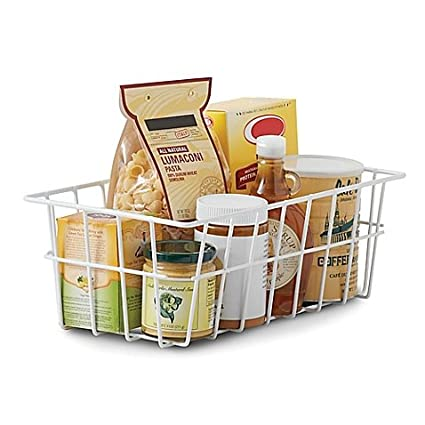 Charmant SALT Pantry Storage Basket In White