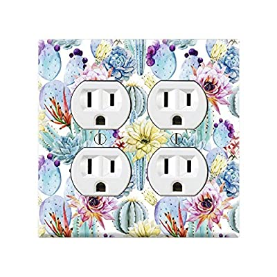 CACTUS Light Switch Cover Wall Plate, Cactus Graphics Wallplate, Outlet Cover, Single Toggle, Single Rocker, Outlet Cover, Gift for Cactus Lover, Desert Cactus Decor, Cactus Wall Plate Cover TF91: Handmade