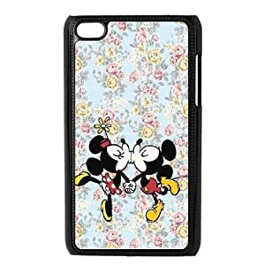 iPod Touch 4 Phone Case Black Disney Mickey Mouse Minnie Mouse WQ5RT7523710