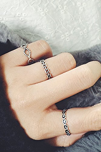 Generic s925 Sterling Silver Korea retro Thai silver ring women girls lady opening joints by Generic