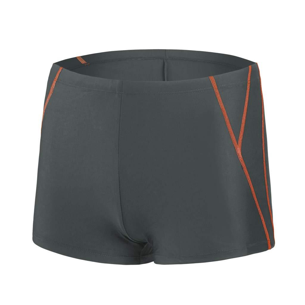 iLXHD Shorts Men Summer Quick Dry Swimwear Beach Surfing Swimming Short Pants Boxer Briefs Orange