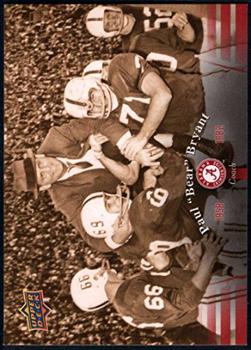 Football NFL 2012 Upper Deck University of Alabama #4 Paul Bear Bryant (Tide University Alabama Crimson)