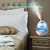 Ultrasonic Cool Mist Humidifier, Anypro 3.5L Anti-mold Humidifiers with Super Quiet Operation, Automatic Shut-off, and Variable Night Lights