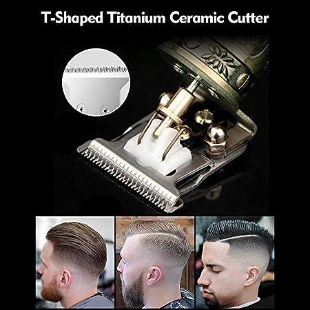 yorten Juego de Cortapelos para Hombres, Profesional Recortador de Cabello Eléctrico T-Blade Clipper Kit de Aseo Recargable USB