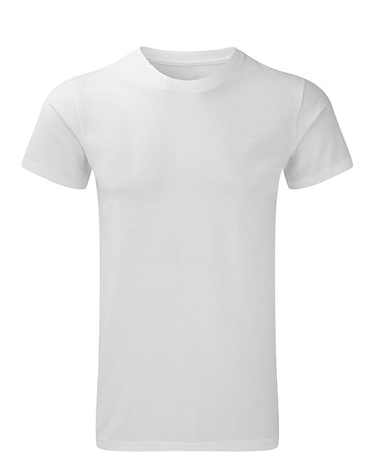 Herren Russell Rundhalsausschnitt Kurzärmeliges Uni Basic T-Shirt Tee Top:  Amazon.de: Bekleidung