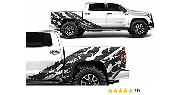 Center Hood Wrap Graphic Sticker Decal For Toyota Tundra 2014-2020 BLUE LINE