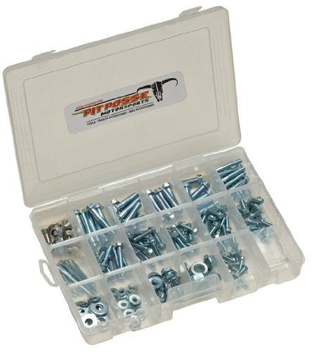 (Pit Posse Metric Universal Motorcycle/Dirt Bike Bolt Variety MX Kit for Honda Yamaha Suzuki Kawasaki –185Pc - Metric Bolts, Nuts, Cotter Pins, Sprocket Bolts, Cutter Pins, Head Screws, Hex Flange Nuts)