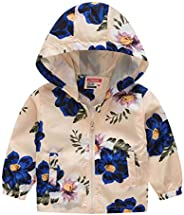Baby Toddler Boys Girls Fall Spring Clothes Jacket 1-5 Years Old Kids Floral Flowers Hoodie Coats Tops