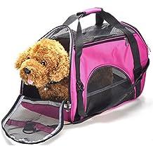 CozyCabin Pet Cat Dog Carrier Bag Comfort Airline Approved Pet Dog Travel Tote Purse Soft Sided for Hiking Bike Travel (S M&L) (L, Rose)