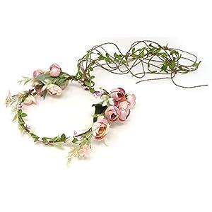 yueton Rattan Flower Vine Crown Tiaras Necklace Belt Garland Headband Flower Crown Party Decoration Hair Wreath Halo 90