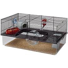Ferplast CAGE FAVOLA Hamster Cage, 23, 62x14, 37xH 11, 81-Inch Black