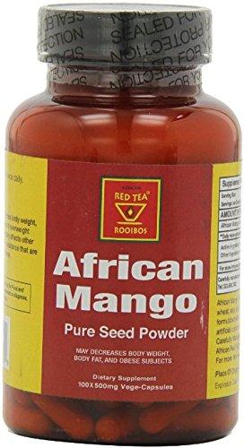 Mango Red Tea Tea - African Mango Seed Powder Veg Capsules 100x500mg - African Red Tea …
