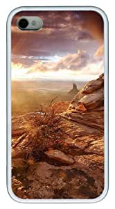 iPhone 4s Case & Cover - Mountain Views Custom Design TPU Case Cover for iPhone 4/4s White