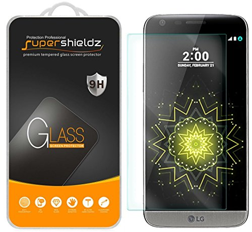 (2 Pack) Supershieldz for LG G5 Tempered Glass Screen Protector Anti Scratch, Bubble Free (Best Case For The Lg G5)