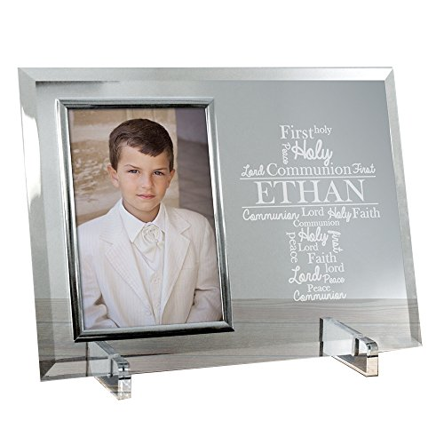 (GiftsForYouNow First Communion Word-Art Personalized Glass Frame )