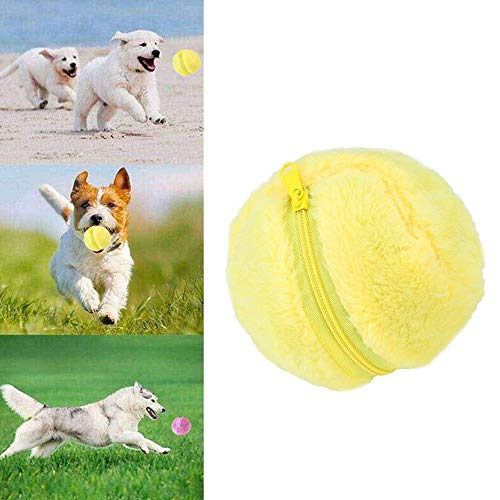 Automatic Roller Ball,Mini Magic Roller Ball Toy Cleaner Magic Ball Dog Cat Pet Toy Mop Funny Ball (A) (Power Trend Tools)