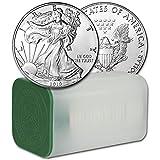 2019 American Silver Eagle 1 Roll - TWENTY (20) Coins in Mint Tube Brilliant Uncirculated
