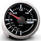 Turbosmart TS-0101-2025 Boost Gauge, 0-2 bar, 52 mm