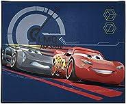 Disney Pixar Cars Max Throttle Kids Room Rug - Large Area Rug Measures 4 x 5 Feet - Features Lightning McQueen