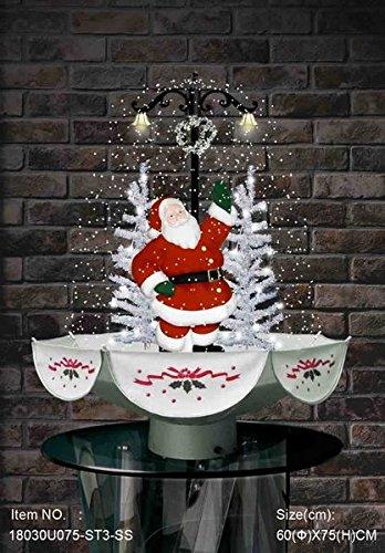 Umbrella Christmas Tree Uk.Lekeez Tm New Xmas Christmas Snowing Tree With Umbrella Shaped Base With Lighting And Decorations