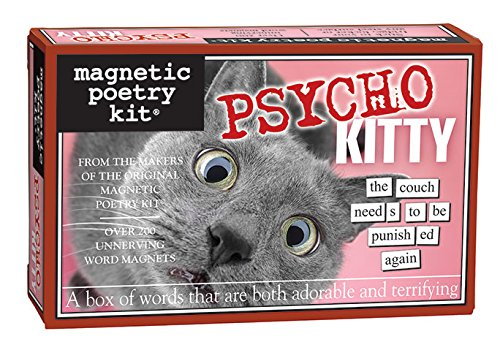 - Magnetic Poetry Psycho Kitty Magnetic Word Kit